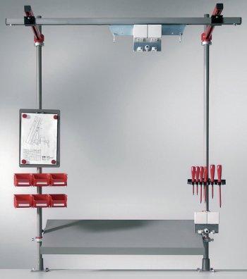 ergonomic montageaufsatz system f r arbeitspl tze. Black Bedroom Furniture Sets. Home Design Ideas